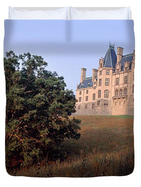 Low Angle View Of A Mansion, Biltmore Duvet Cover