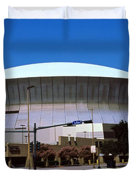 Low Angle View Of A Stadium, Louisiana Duvet Cover
