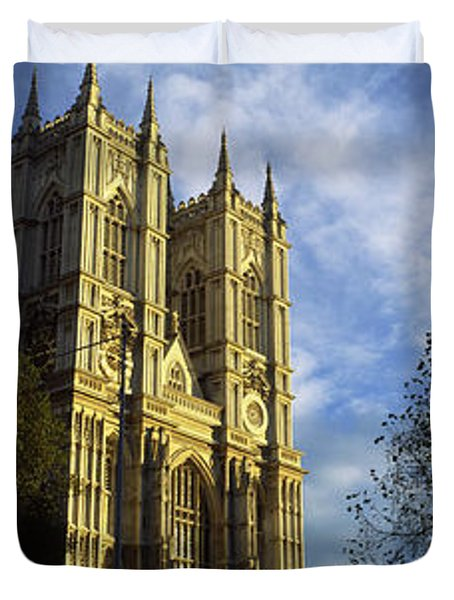 Low Angle View Of An Abbey, Westminster Duvet Cover