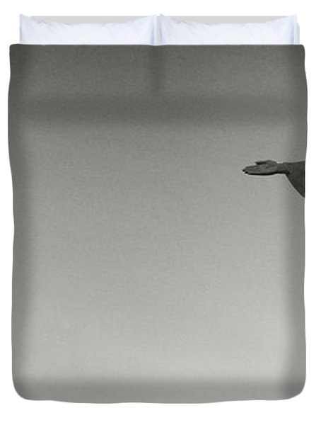 Low Angle View Of Christ The Redeemer Duvet Cover