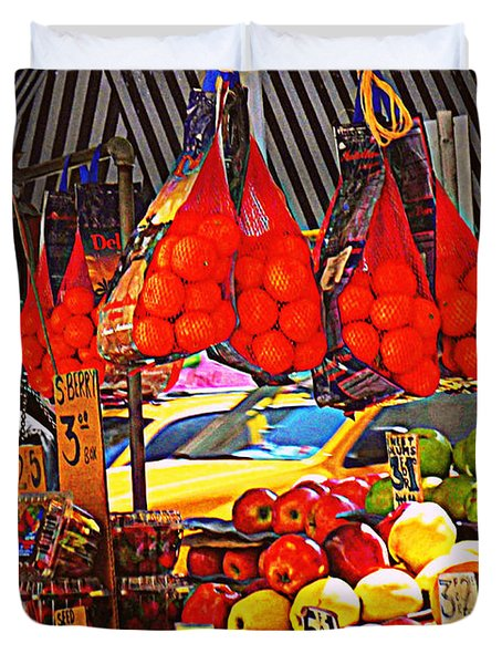 Duvet Cover featuring the photograph Low-hanging Fruit by Miriam Danar