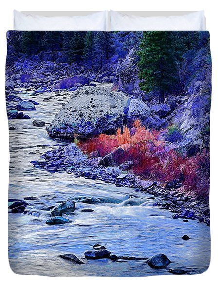 Low River-d Duvet Cover by Nancy Marie Ricketts