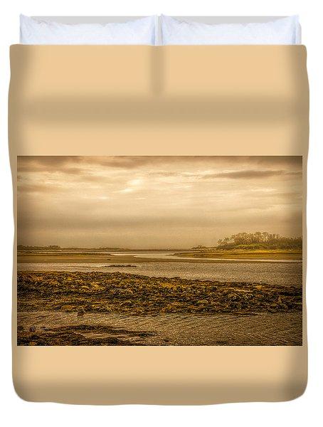 Low Tide Cape Porpoise Maine Duvet Cover by Bob Orsillo