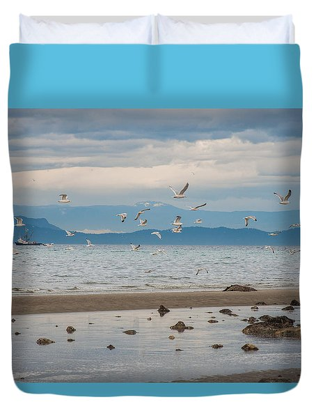 Herring Season  Duvet Cover by Roxy Hurtubise