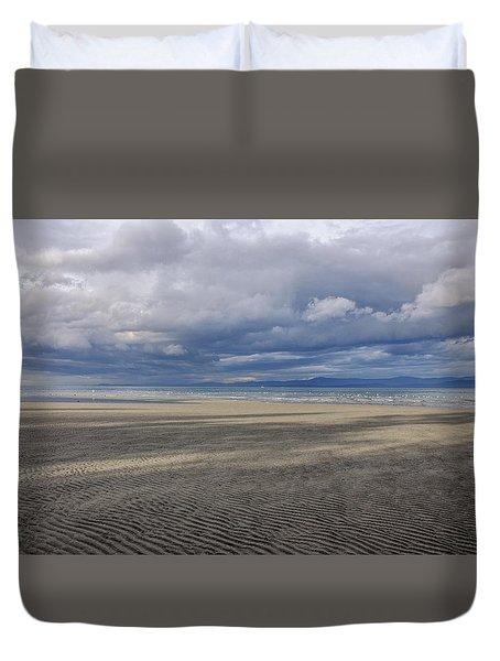 Low Tide Sandscape Duvet Cover by Roxy Hurtubise
