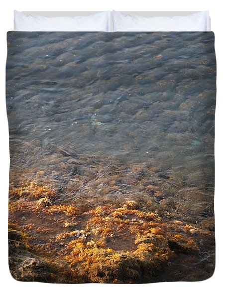 Duvet Cover featuring the photograph Low Tide by George Katechis
