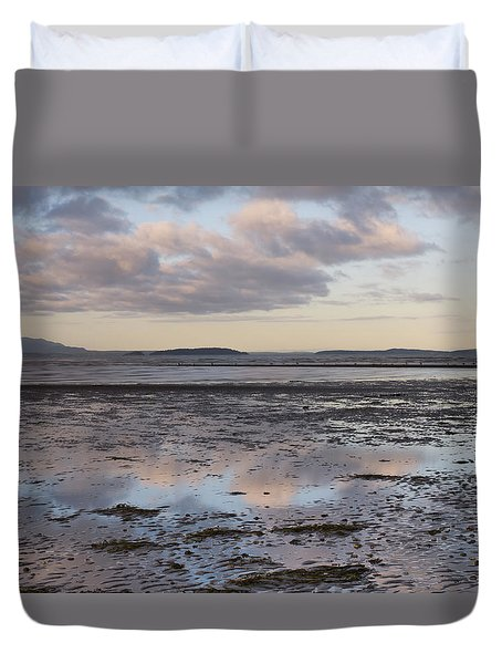Low Tide Reflections Duvet Cover by Priya Ghose