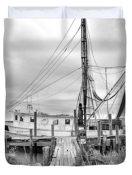 Lowcountry Shrimp Boat Duvet Cover