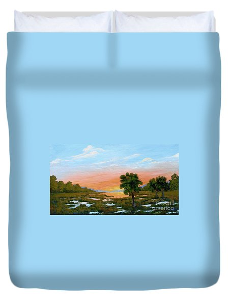 Lowcountry Sunrise Duvet Cover
