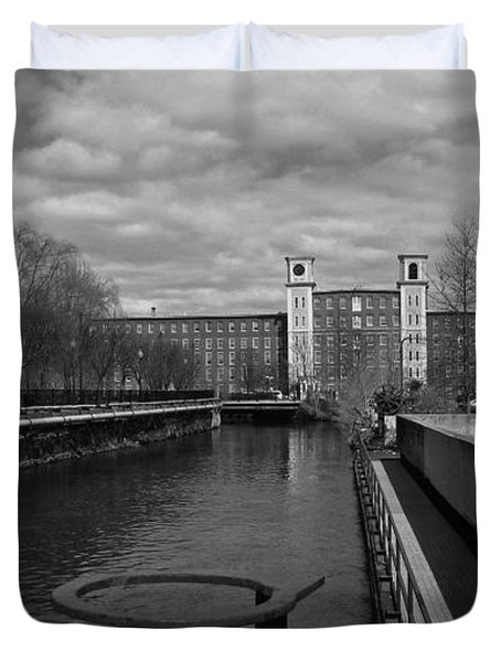 Lowell Ma Architecture Bw Duvet Cover