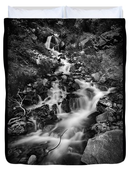 Lower Bridal Veil Falls 2 Bw Duvet Cover