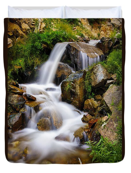 Lower Bridal Veil Falls 4 Duvet Cover