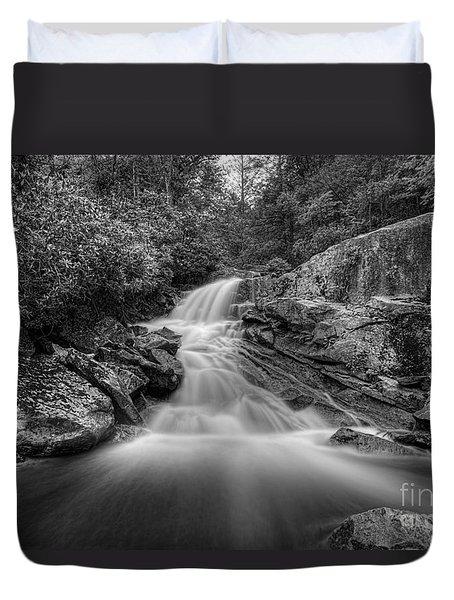 Lower Falls On Big Run River  Duvet Cover by Dan Friend