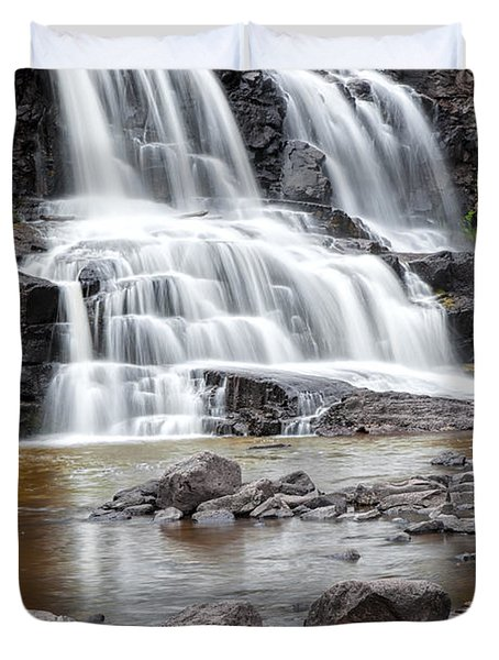 Lower Gooseberry Falls Duvet Cover