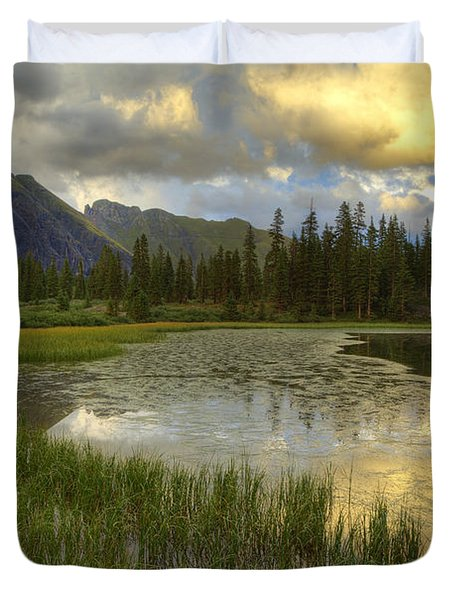 Lower Ice Lake Duvet Cover by Alan Vance Ley