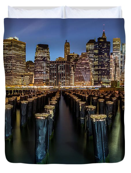 Lower Manhattan Duvet Cover by Mihai Andritoiu