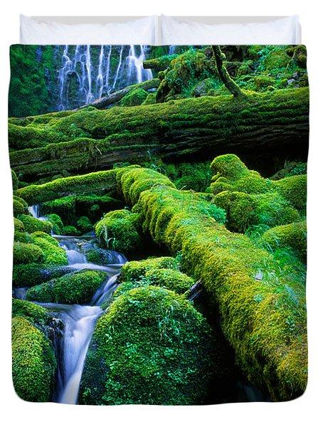 Lower Proxy Falls Duvet Cover by Inge Johnsson