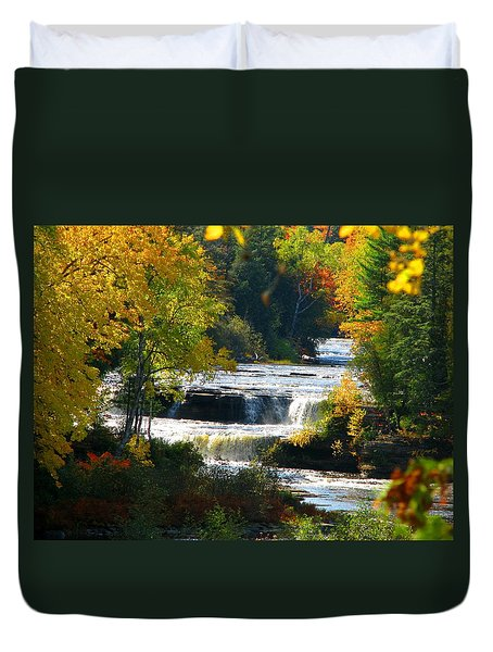 Lower Tahquamenon Falls In October No 3 Duvet Cover