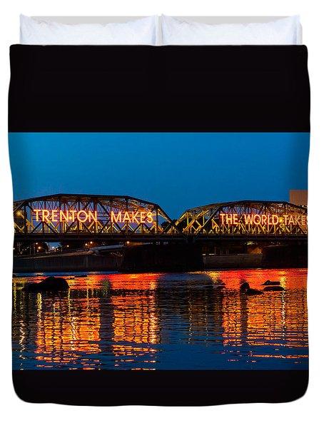 Lower Trenton Bridge Duvet Cover