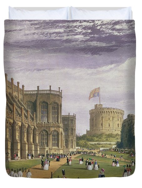 Lower Ward With A View Of St Georges Duvet Cover
