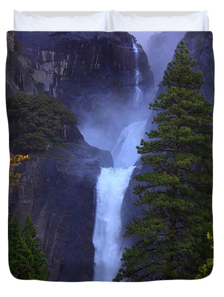 Lower Yosemite Falls Duvet Cover by Patrick Witz