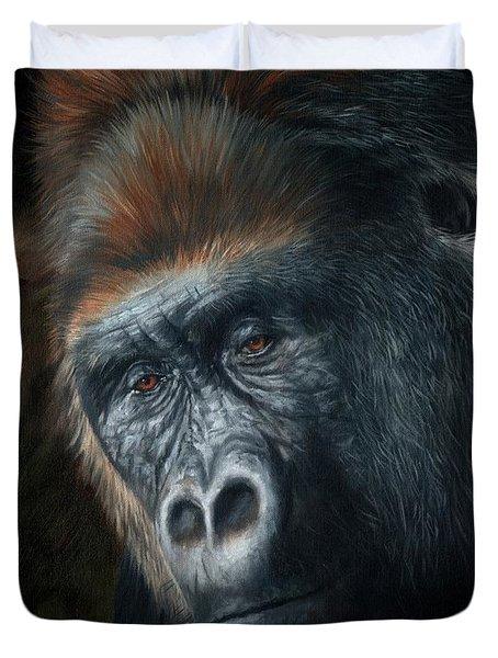 Lowland Gorilla Painting Duvet Cover
