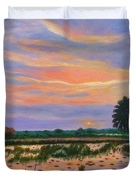 Loxahatchee Sunset Duvet Cover