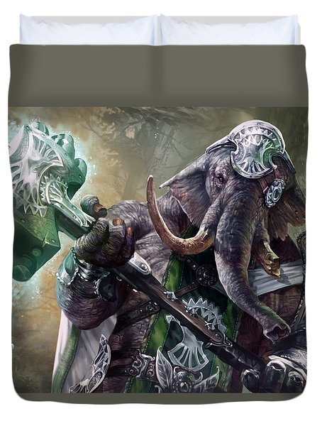 Loxodon Smiter Duvet Cover by Ryan Barger