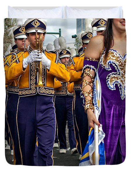 Lsu Marching Band 5 Duvet Cover by Steve Harrington