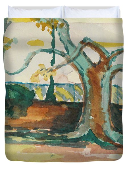 Lsu Oaks Cypress Knees Duvet Cover
