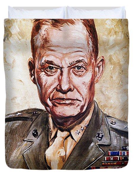 Lt Gen Lewis Puller Duvet Cover
