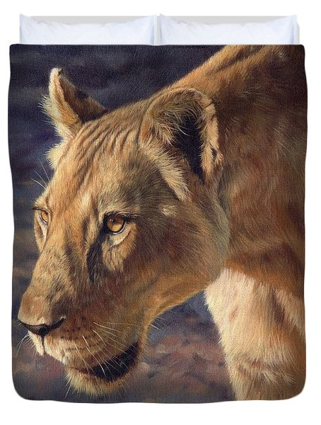 Luangwa Princess  Duvet Cover by David Stribbling