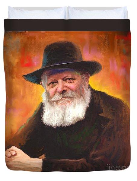 Lubavitcher Rebbe Duvet Cover by Sam Shacked