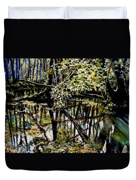 Lubianka-4 Mystery Of Swamp Forest Duvet Cover
