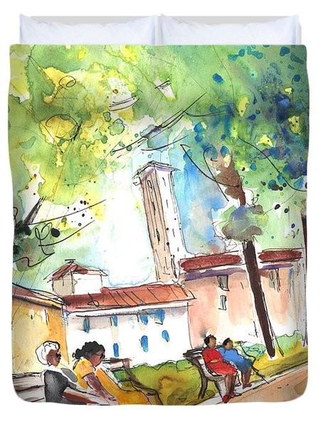 Lucca In Italy 03 Duvet Cover by Miki De Goodaboom