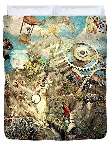 Lucid Dreaming Duvet Cover by Ally  White