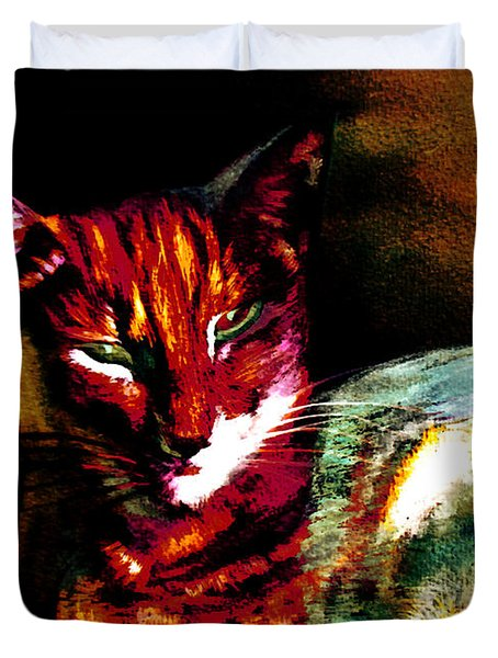 Lucifer Sam Tiger Cat Duvet Cover
