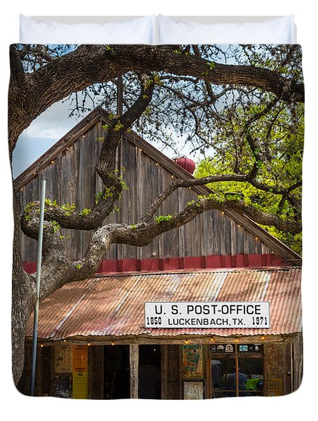 Luckenbach Post Office Duvet Cover