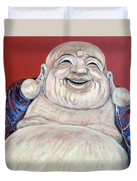 Lucky Buddha Duvet Cover by Tom Roderick