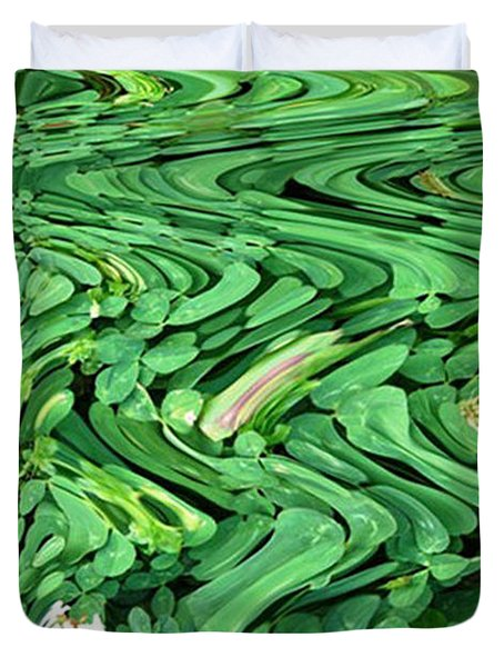 Lucky Clovers Duvet Cover by Carol Lynch