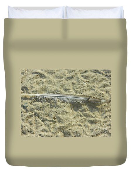 Duvet Cover featuring the photograph Lucky Feather by Emmy Marie Vickers