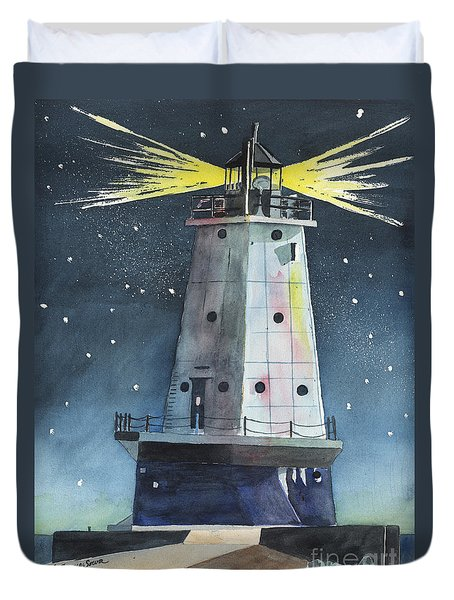 Ludington Light Duvet Cover