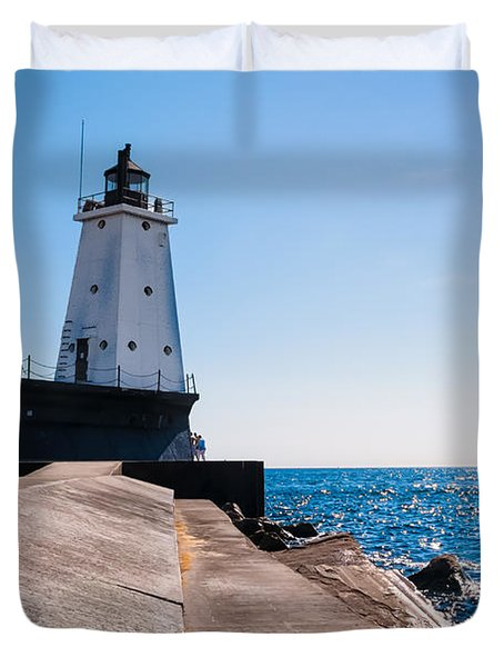 Ludington Lighthouse Duvet Cover