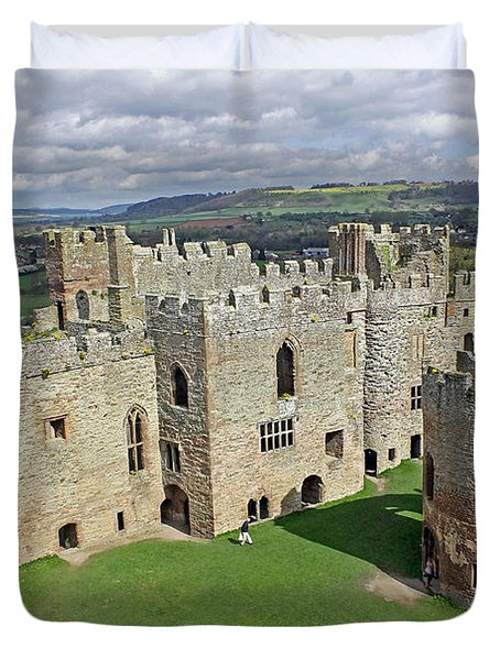Ludlow Castle Chapel And Great Hall Duvet Cover