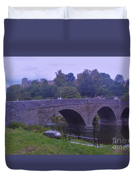 Duvet Cover featuring the photograph Ludlow Castle by John Williams