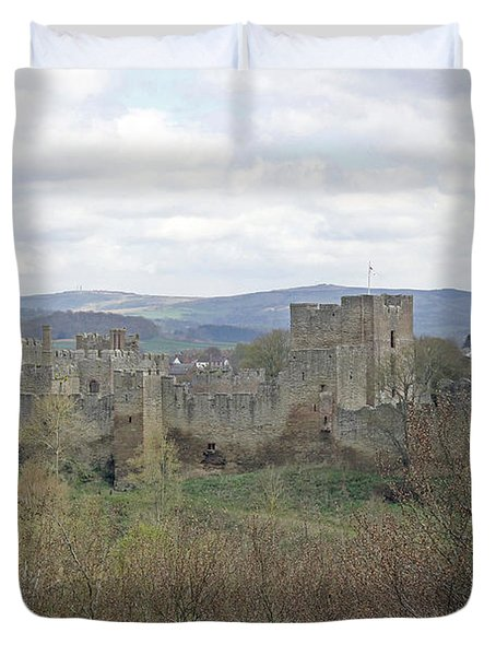 Ludlow Castle Duvet Cover by Tony Murtagh