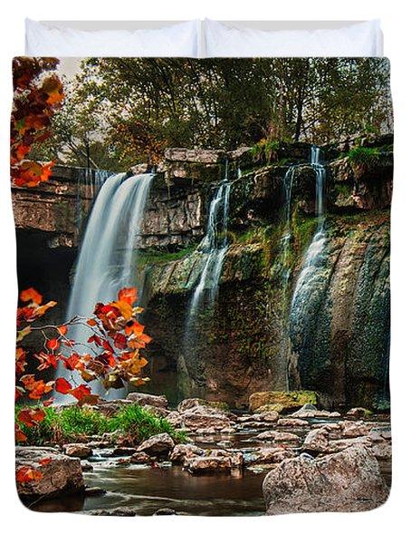 Ludlowville Falls Duvet Cover
