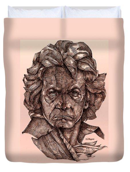 Ludwig Van Beethoven Duvet Cover by Derrick Higgins