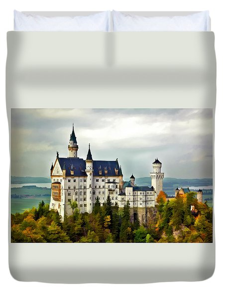 Neuschwanstein Castle In Bavaria Germany Duvet Cover