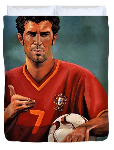 Luis Figo Duvet Cover